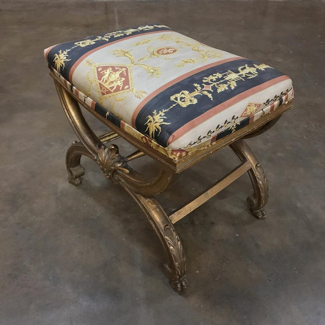 19th Century Giltwood Vanity Stool For Sale In Baton Rouge - Image 6 of 11