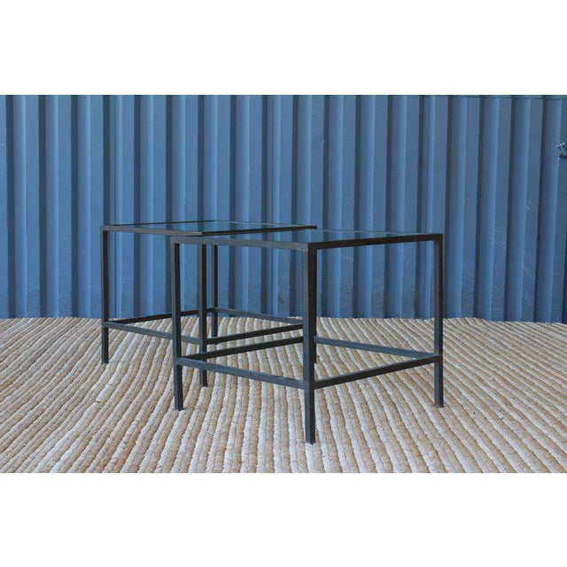 Brass Side Table With Heavy Patina, France, 1950s For Sale - Image 11 of 13