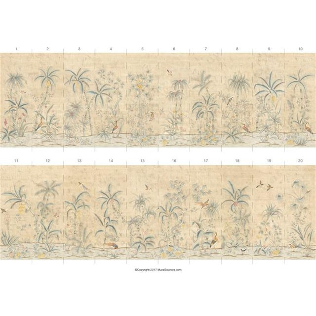 """Chinoiserie Casa Cosima Maya Antiqued Wallpaper Mural - 2 Panels 72"""" W X 108"""" H For Sale - Image 3 of 5"""