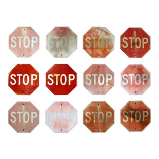 Vintage Metal Stop Signs For Sale