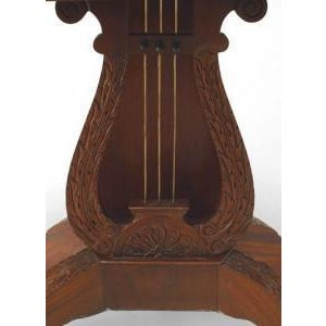 American American Federal Style (19th Cent) Mahogany Flip Top Console/Card Table With Lyre Base For Sale - Image 3 of 8