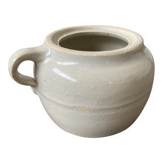Antique Small Stoneware Crock For Sale