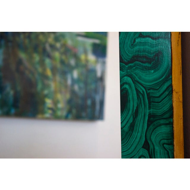 Green Malachite Wall Mirror For Sale - Image 10 of 13