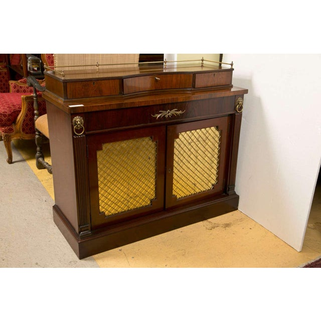 Regency Style Rosewood Serving Cabinet - Image 2 of 8
