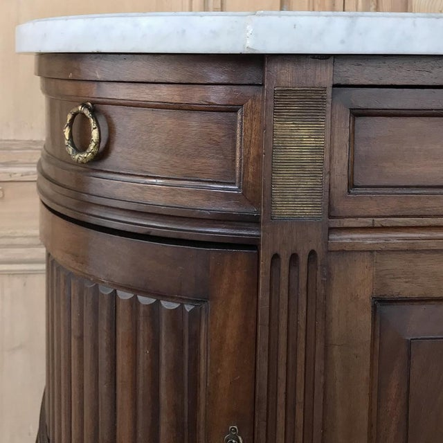 19th Century French Directoire Mahogany Marble Top Buffet For Sale - Image 9 of 13