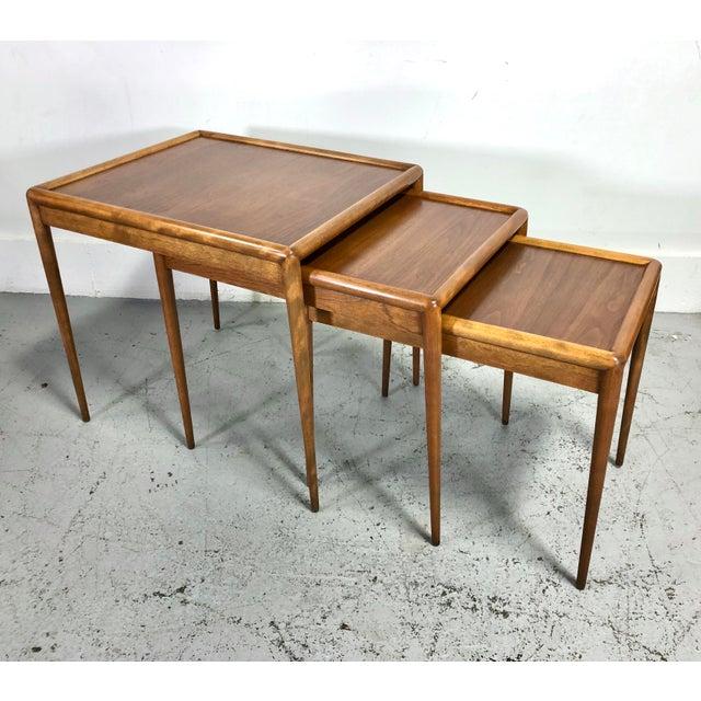 t.h. Robsjohn-Gibbings Nesting Tables for Widdicomb - Set of 3 For Sale - Image 13 of 13