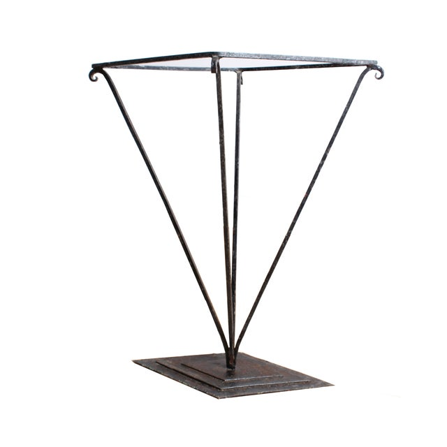 Mid-Century Iron Umbrella Stand For Sale