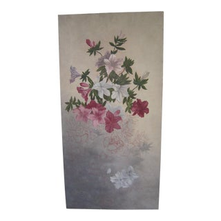 Vintage 1940s Flower Painting For Sale