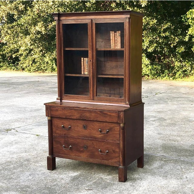 Empire 19th Century Empire Bookcase ~ Vitrine For Sale - Image 3 of 12