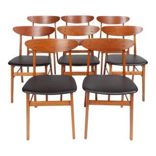 Vintage Danish Modern Farstrup Møbelfabrik Teak Danish Modern Dining Chairs, Set of 8 For Sale