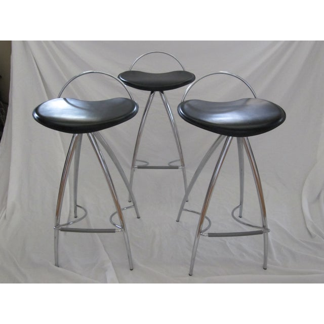 Cattelan Italian Leather Counter Stools- Set of 3 - Image 6 of 9
