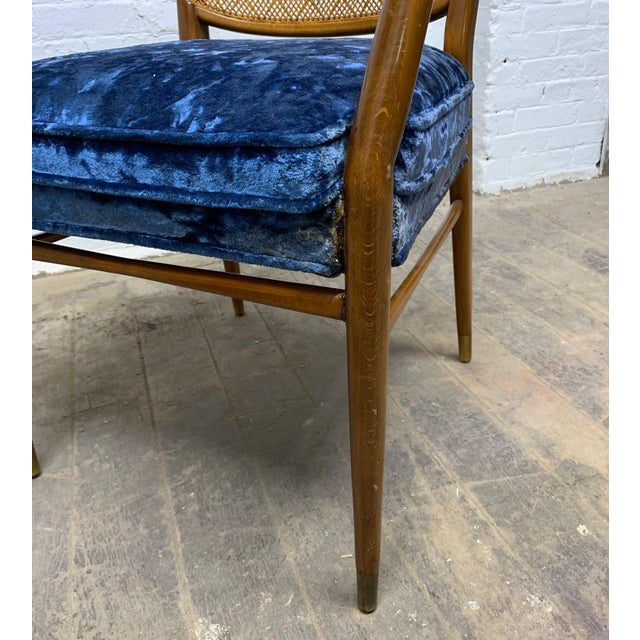 Wood Set of 6 Erno Fabry Cane Back Dining Chairs For Sale - Image 7 of 10