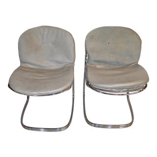 Mid Century Modern Pair of Gastone Rinaldi for Roma Sabrina Chairs For Sale
