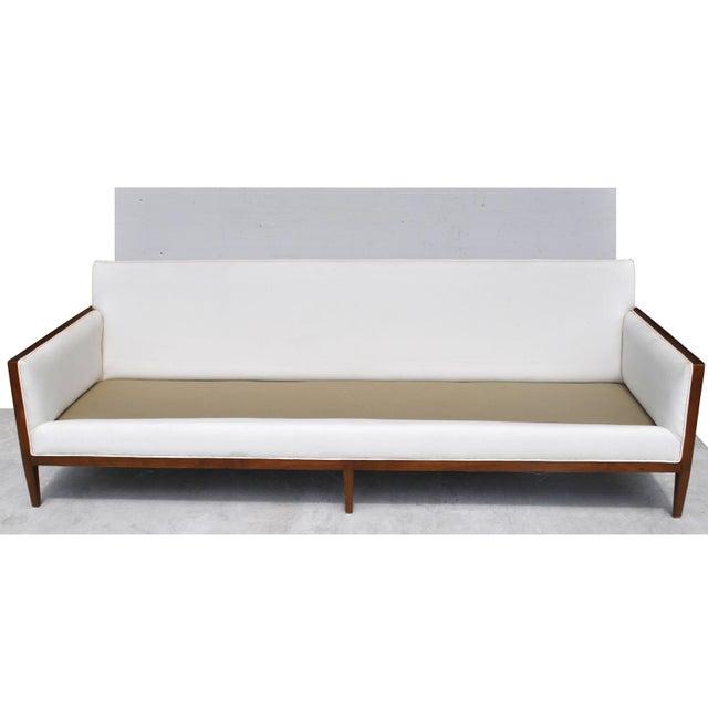 Mid-Century Modern Vintage Restored Stow Davis Sofa For Sale - Image 3 of 12