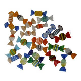 Murano Glass Candies - Set of 24