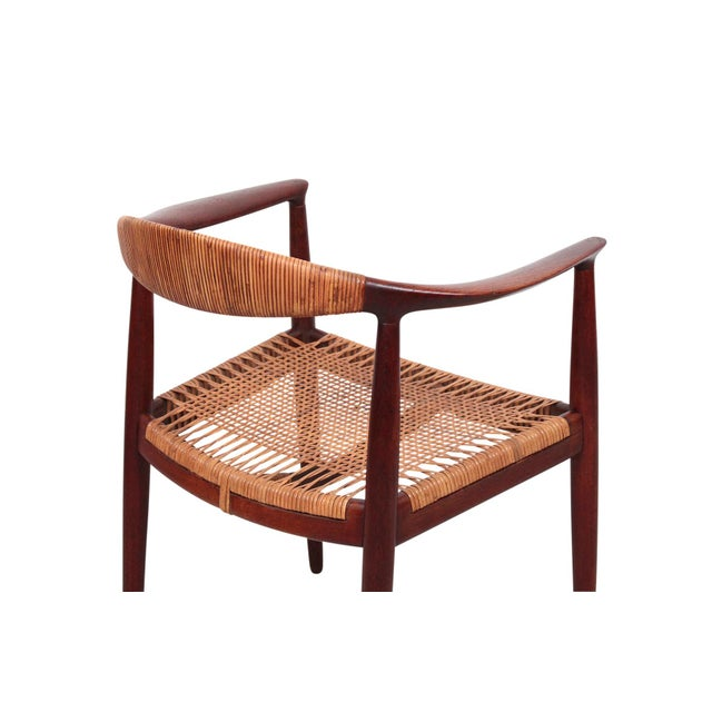 Caning Hans Wegner Classic Cane Chair For Sale - Image 7 of 13