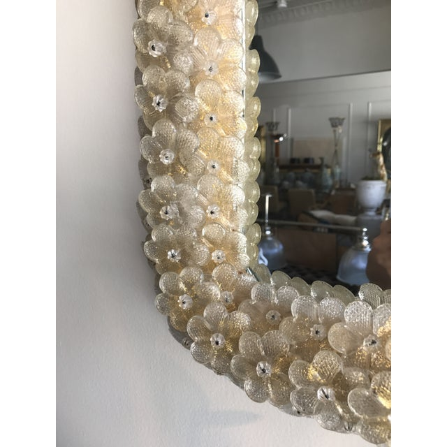 Modern Murano Gold Daisy Mirror For Sale - Image 3 of 5