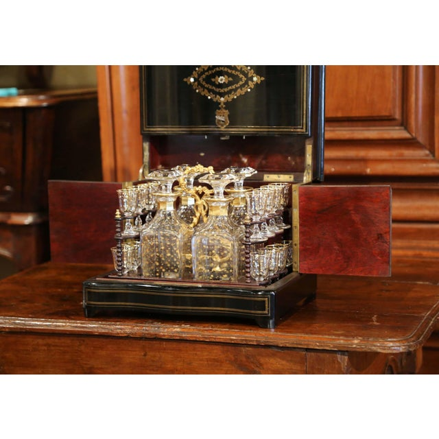 French 19th Century French Napoleon III Cave a Liqueur With Mother-Of-Pearl Decor For Sale - Image 3 of 13
