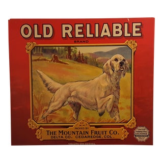 Old Reliable Brand Apple Crate Label C.1930