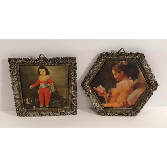 Vintage Japanese Miniature Silk Prints - a Pair For Sale - Image 9 of 9