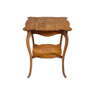 Victorian-Style Oak Side Table