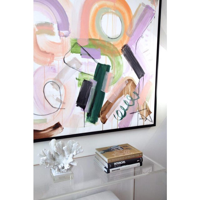 """Abstract Original Abstract Painting by Jen Ramos, """"Pistol & Jewels 1"""" For Sale - Image 3 of 10"""