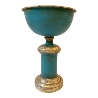 Mid 20th Century Vintage Italian Tole Planter/Urn/Centerpiece For Sale