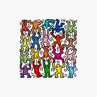 """Keith Haring """"Acrobats"""" Poster Print For Sale"""