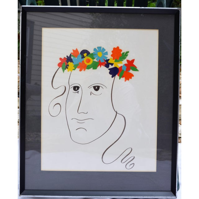 Bohemian Abstract Face Illustration For Sale In Houston - Image 6 of 7