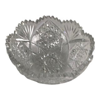 Period Cut Glass Bowl For Sale