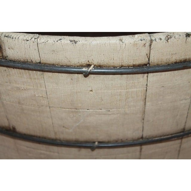 Late 19th Century 19th Century Original Cream Painted Wash Tub For Sale - Image 5 of 7