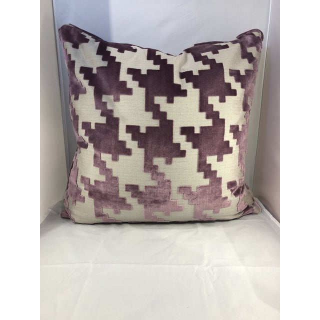 """Tan 21"""" Square Robert Allen Pillow from Kenneth Ludwig Chicago For Sale - Image 8 of 8"""