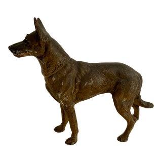 Antique Hubley Cast Iron German Shepard Dog Figurine For Sale