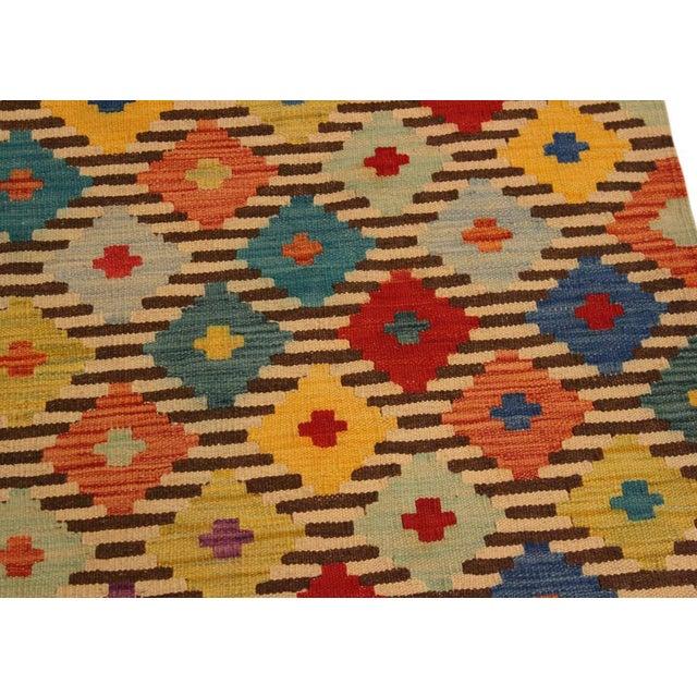 2010s Kilim Arya Liriene Ivory/Brown Wool Rug -2'6 X 4'2 For Sale - Image 5 of 8