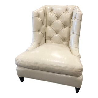Baker Furniture Company Slipper Chair Leather For Sale