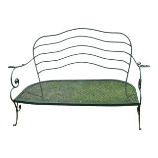 1970s Vintage Cast Iron Settee For Sale