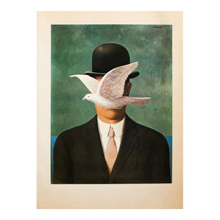 """1972 Rene Magritte, """"The Man in the Bowler Hat"""" Original Photogravure For Sale"""