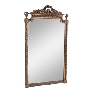19th Century French Louis XVI-Style Giltwood Mirror For Sale