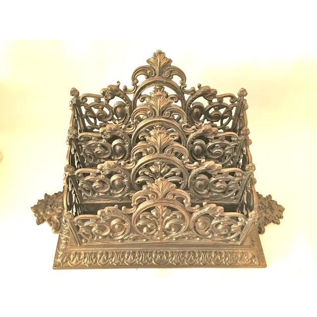 Victorian Brass Letter Holder - Image 3 of 7