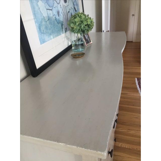 Shabby Chic Light Gray Dresser - Image 9 of 11