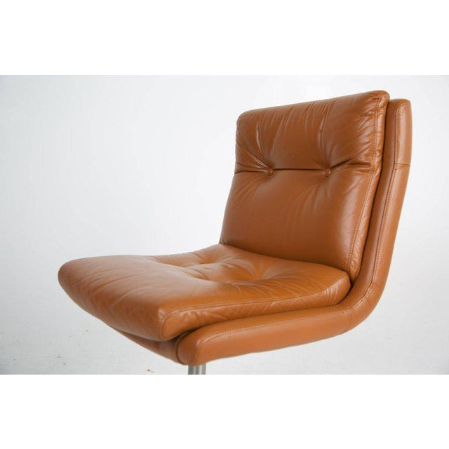 1970s Leather Lounge Chairs by Raphael, France - a Pair For Sale - Image 10 of 13
