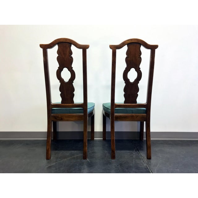 Fabric THOMASVILLE Mystique Asian Chinoiserie Dining Side Chairs - Pair 2 For Sale - Image 7 of 13