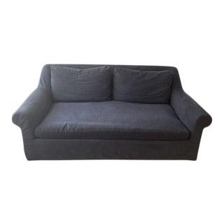 Restoration Hardware Belgian Roll Arm Slipcovered Sofa For Sale
