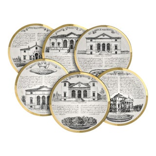 Fornasetti Vintage Dinner Plates - Set of 6********** Last Markdown ********** For Sale