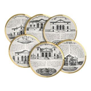Fornasetti Vintage Dinner Plates - Set of 6 Plates - For Sale