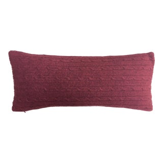 Dark Red Cashmere Throw Pillow
