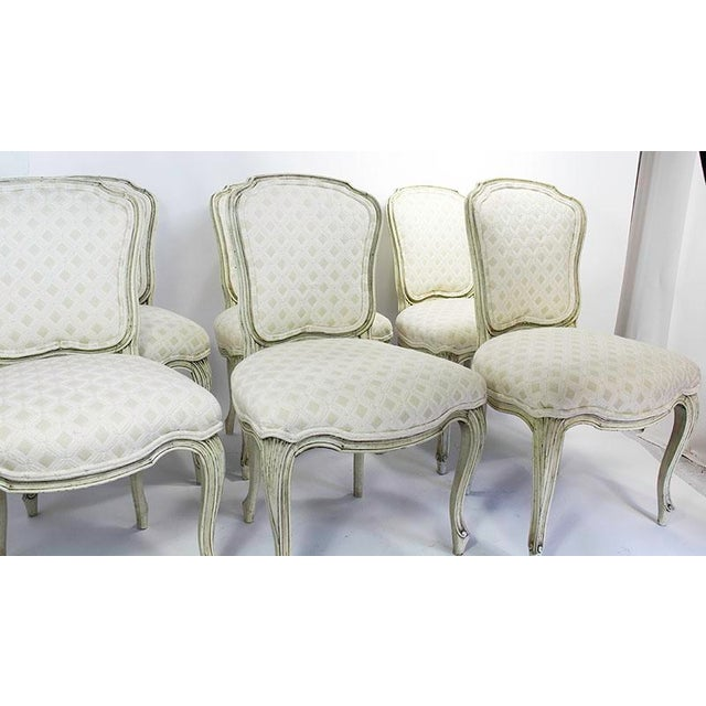 Late 20th Century Vintage Upholstered Dining Chairs- Set of 6 For Sale - Image 9 of 13