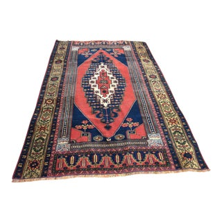 Rustic Turkish Anatolian Taspinar Oushak Wedding Rug - 4′7″ × 6′10″ For Sale