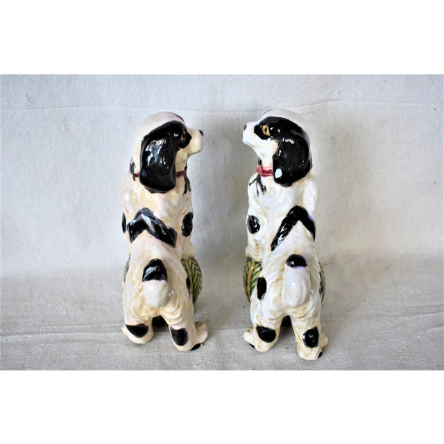 Vintage King Charles Spaniel Bookends - a Pair For Sale - Image 4 of 8