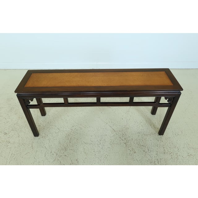 Item: 49256EC: DREXEL Chinese Oriental Style Modern Design Sofa Table Age: Approx: 20 Years Old Details: Quality...
